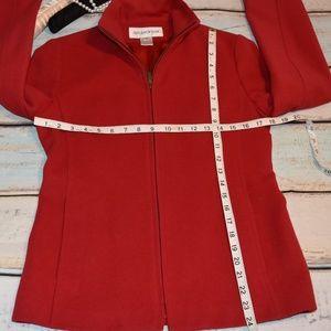 Jones New York Jackets & Coats - Fully Lined Red Wool/Angora Zip Up Jacket